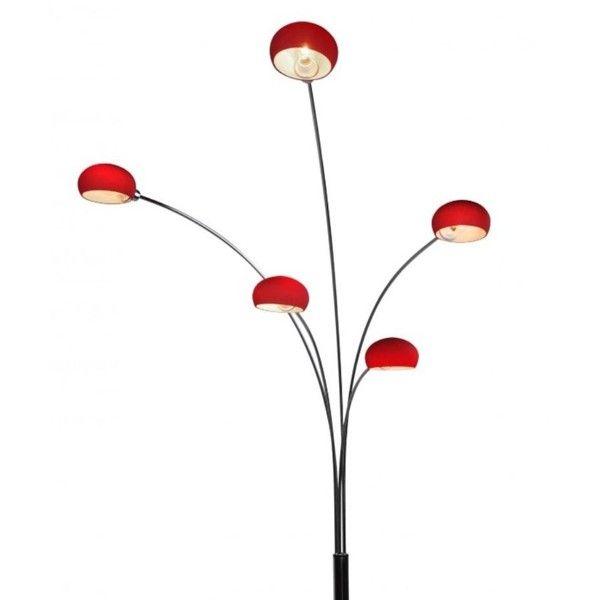 Lampadar, lampa de podea H-205cm Venti Rosu TS-5805G-RE Zuma Line, Lampadare, Corpuri de iluminat, lustre, aplice a