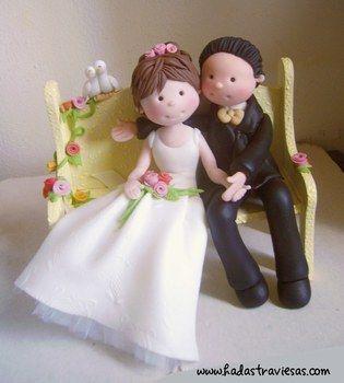 noviosPhotos, Figuras En, Grooms Cake, Brides, Figuras Goma, Novios En Porcelana Fria, En Fondant, Couples, Cake Toppers