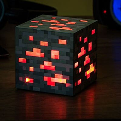 Minecraft light up led juguetes redstone mineral cuadrados luz de noche led figura Juguetes Light Up Mineral De Diamante light up juguetes para niños regalos # E