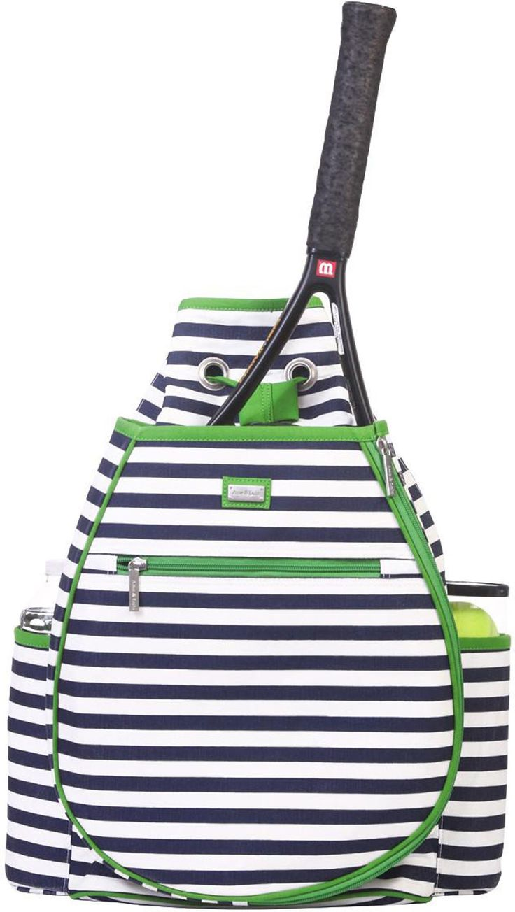 Piper monogrammed tennis backpack by the Girly-Twirly Gift Company; $124   archdigest.com