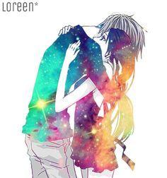 Cool anime couple art