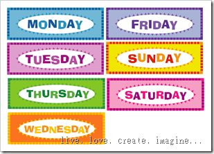 Making days of the week chart