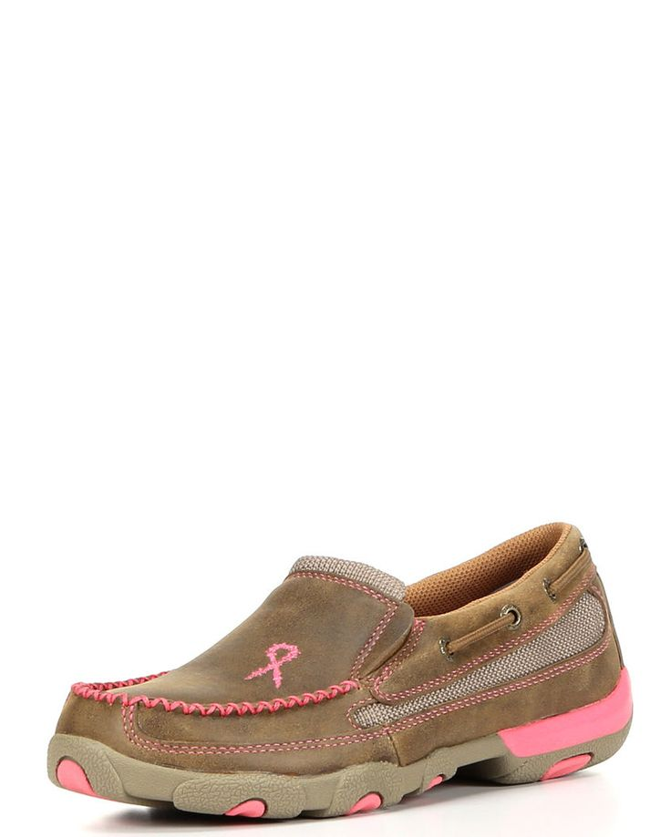 Twisted X Boots | Women's Driving Mocs Slip On - Bomber / Neon Pink | Country Outfitter