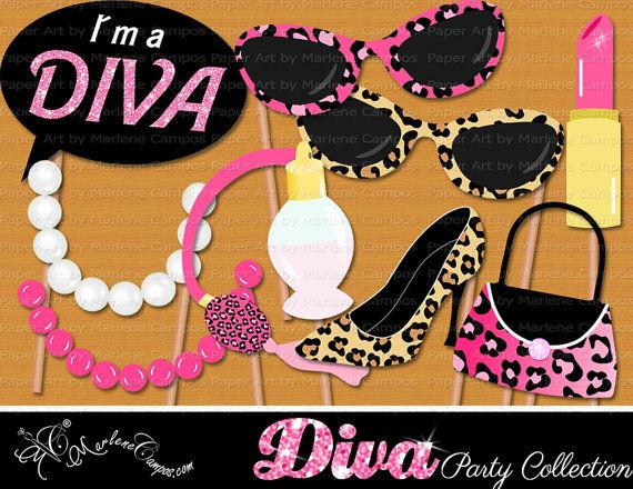 Hey, I found this really awesome Etsy listing at https://www.etsy.com/listing/201273047/diva-photo-booth-props-birthday-photo