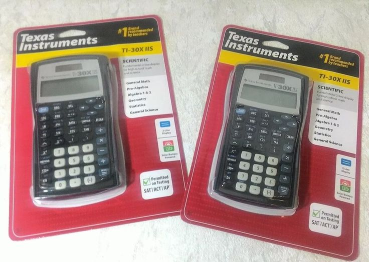 Lot of two NEW Texas Instruments TI-30X IIS 2-Line Scientific Calculator Black #TexasInstruments