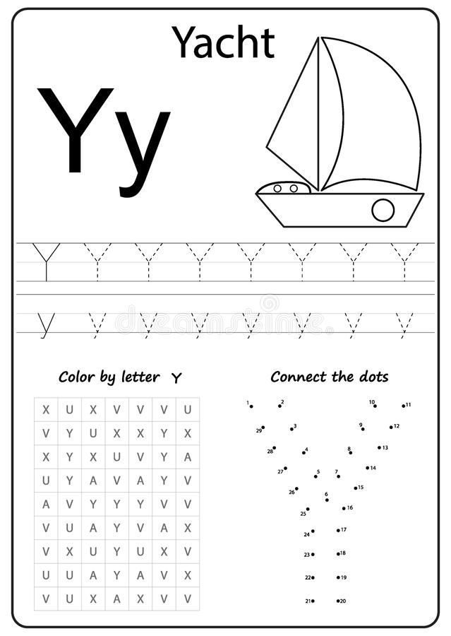 Writing Letter Y Worksheet Writing A Z Alphabet Exercises Game For Kids Royalty Free Illustration In 2021 Letter Y Worksheets Writing Letter Alphabet Worksheets Free printable letter y worksheets