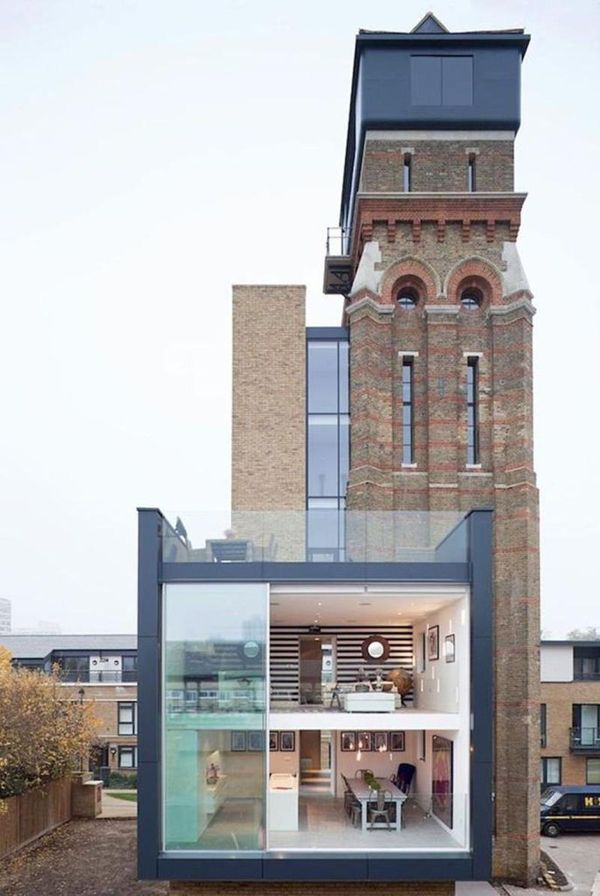 Is this the house built into, out of, and on to, a Victorian era water tower in London?