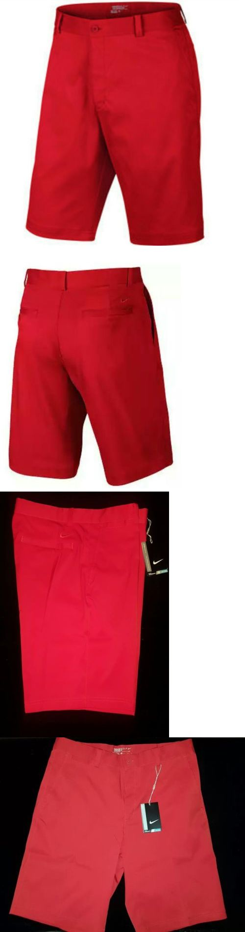 Shorts 181139: Nike Men Dri-Fit Flat Front Standard Fit University Red Short #639798 657 - 32 -> BUY IT NOW ONLY: $35 on eBay!