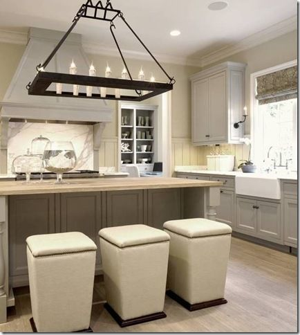 Kitchen lee industry stools grey cabinets