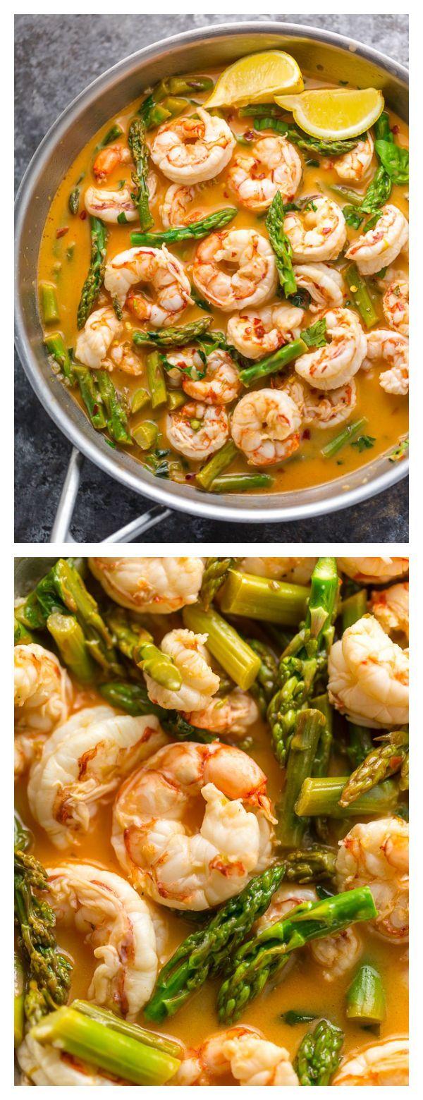 Lemon Garlic Shrimp and Asparagus