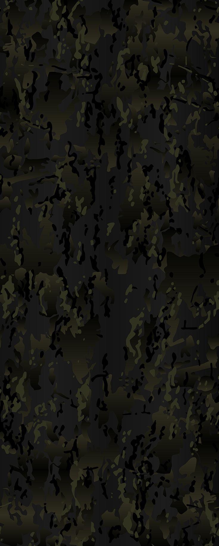 Original Multicam Black vector camouflage pattern for