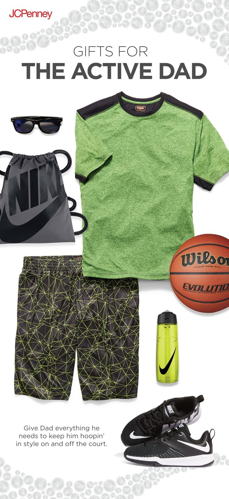 Whoa, that Dad is on the move! Find great gifts at great prices for Father's Day from JCPenney! Give him the latest Nike shoes or new activewear shorts and shirts that match his love for sports.