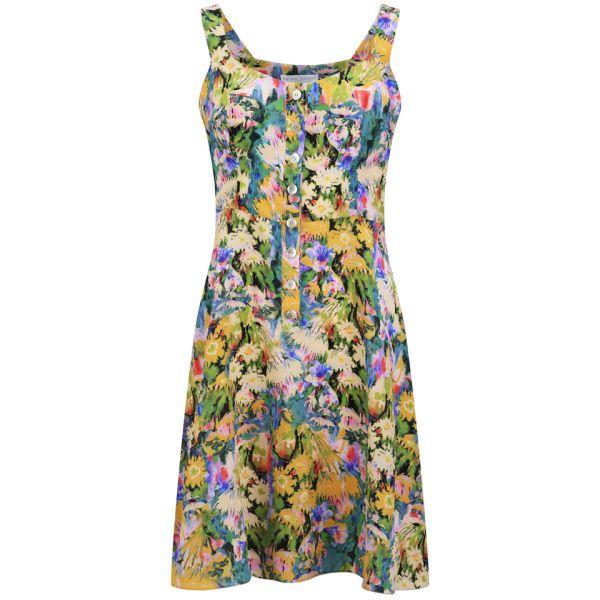 Edina Ronay Women's Exclusive Garden Print Vintage Sundress - Multi: Image 01