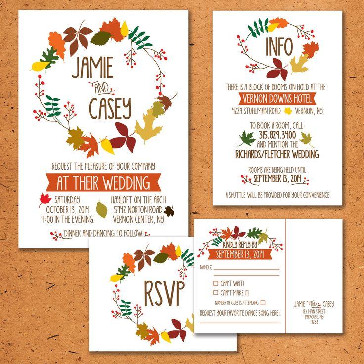 2168 best Fall Wedding Invitations images on Pinterest