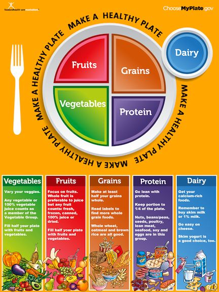 Do a my plate so you have an idea of how much of each food category you should be eating.