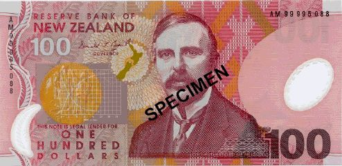 New Zealand 100$ note