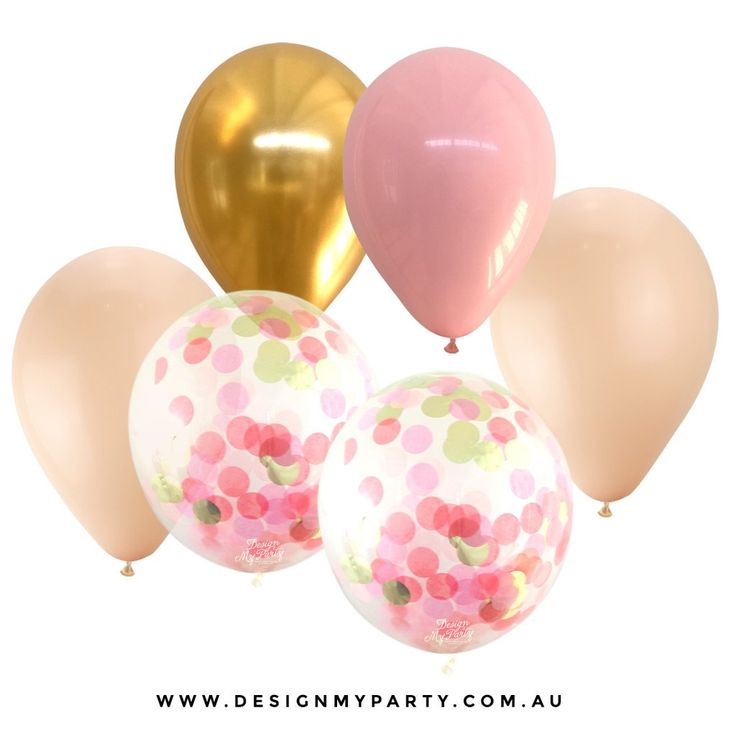 Cotton Candy Glam with 2 Confetti Balloons (12 Pack)