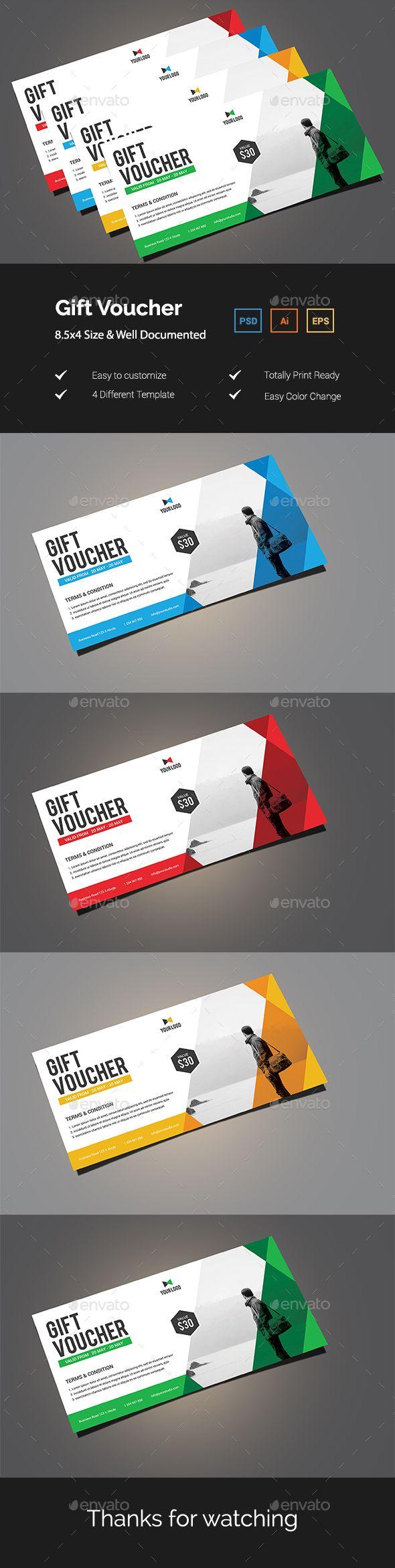 363 best gift voucher templates images on pinterest font logo gift voucher template psd vector eps ai illustrator xflitez Choice Image