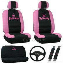 Teens love this Pink Princess Car Seat Cover set from CarDecor.com.