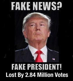 Any negative polls are fake news. Only positive news about me is real. Uh huh. OK, Kim Jong Don...