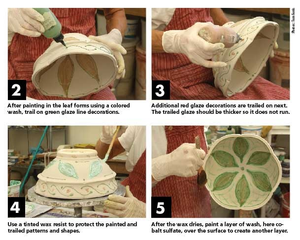 1000 images about ceramics wax resist on pinterest for Clay pot painting techniques