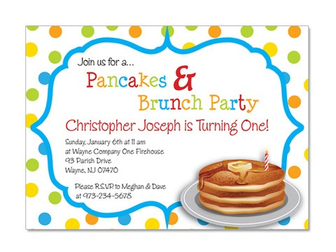 pancake brunch birthday invitations | pancake breakfast, birthdays, Birthday invitations