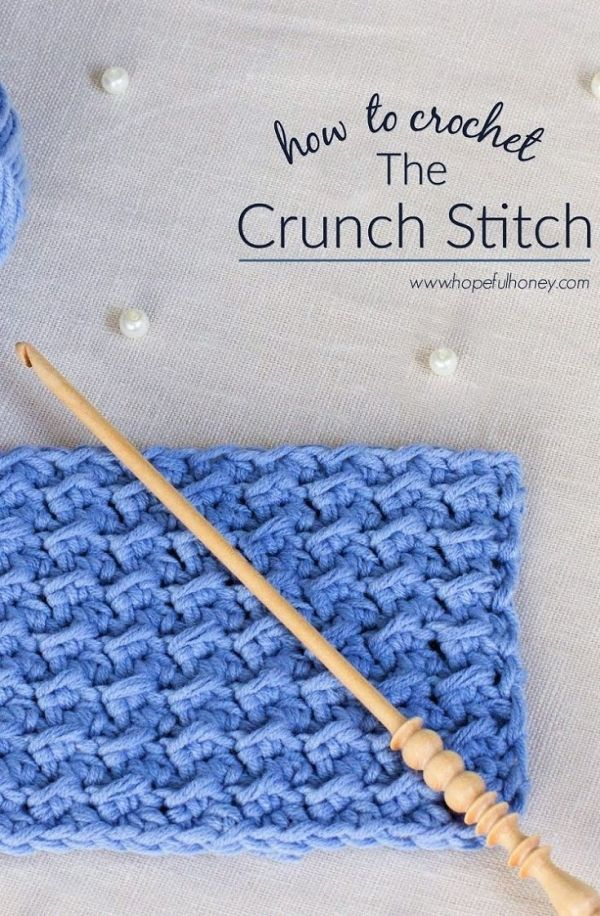 Como: Crochet The Crunch Stitch - Tutorial Fácil por MyLittleCornerOfTheWorld