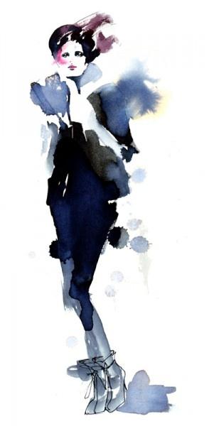 """""""NK Stil, Sep. 2011""""  by fashion illustrator Amelie Hegardt"""
