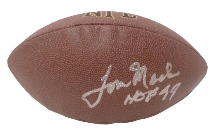 Tom Mack Autographed NFL Wilson Composite Football w/ Inscription, Proof Photo
