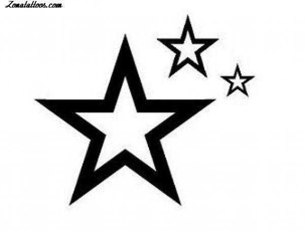 Diseño/Plantilla tatuaje Estrellas
