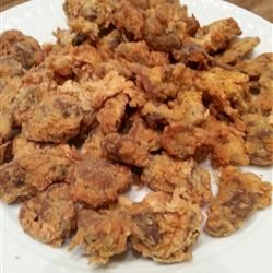 Southern Fried Chicken Gizzards (Combine Fit to Blog recipe for coconut crusted chicken. Omissions and substitutes)