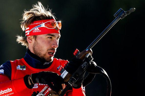 Anton Shipulin in Men's Pursuit on December 20, 2014 in Pokljuka.