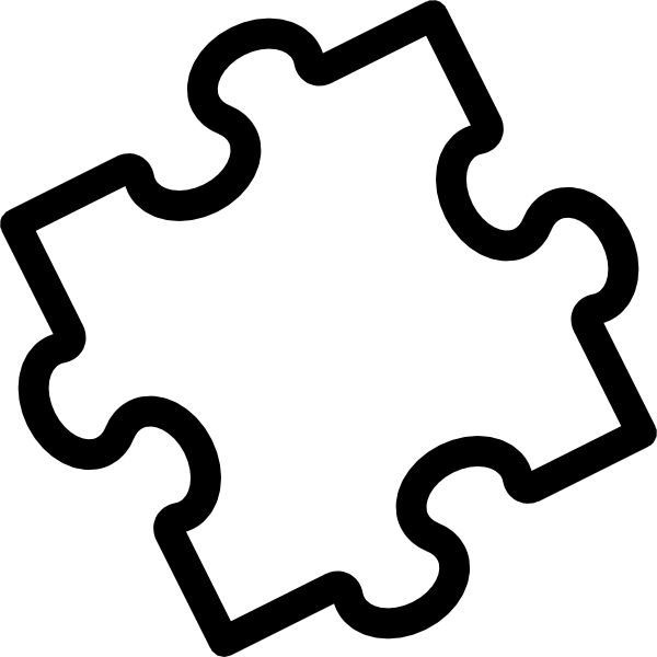 puzzle piece outline coloring pages - photo#21