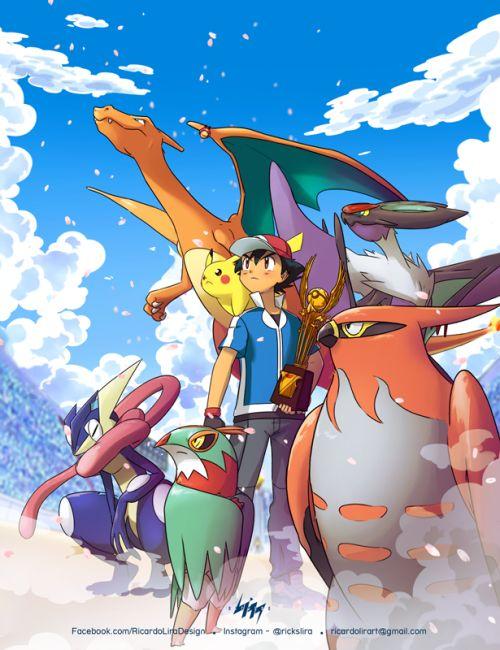 Ash y su equipo POKEMON!!!!!!!!!
