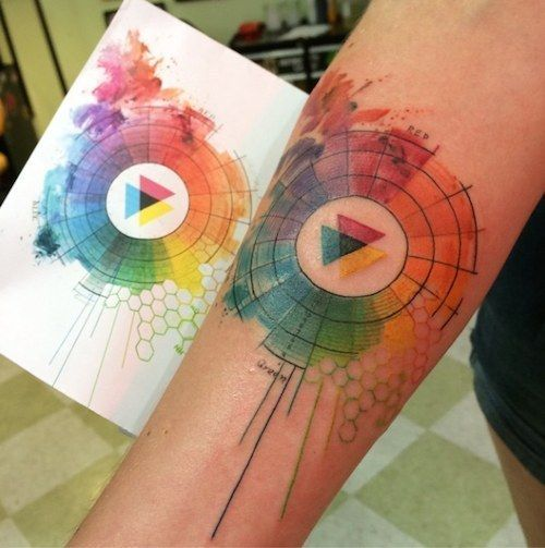 3. Color Wheel | Community Post: 21 Visually Stunning Watercolor Tattoos