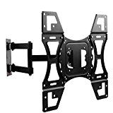 TV Wall Mount, Dual Arms Articulating Swivel Tilt TV Mounts Bracket for Most for 24 29 32 37 42 47 50 Inches LCD Plasma Flat Screen TVs Max VESA 400×400 mm Up To 88 Lbs with HDMI Cable   This full motion TV wall mount fits most 22-50 inch TV screens such as Samsung Sony LG Dell Vizio Dynex...