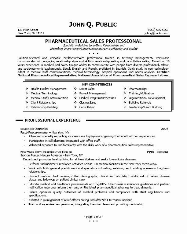 Entry Level Sales Resume Best Of Pharmaceutical Sales Professional Sample Pharmsales Sales Resume Sales Resume Examples Pharmaceutical Sales Resume