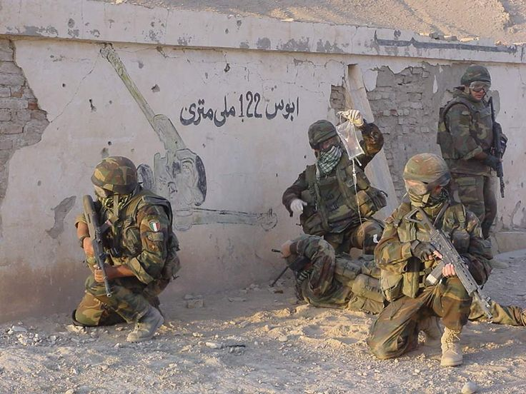 Alpinis from the 4th Alpini regiment in Afghanistan; Italian Army