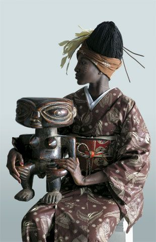 WAFRICA is a project combining traditional African style and fabrics with Japanese kimono and obi.  It's a collaboration between traditional fashion designers of two continents...  And looks awesome.  Unfortunately, I don't think it's widely-known outside of traditional textile circles...  but it's an awesome idea and needs more publicity.    (THIS is an example of what a multi-cultural steampunk trade alt universe might produce in fashion, although I think the resemblance is incidental.)