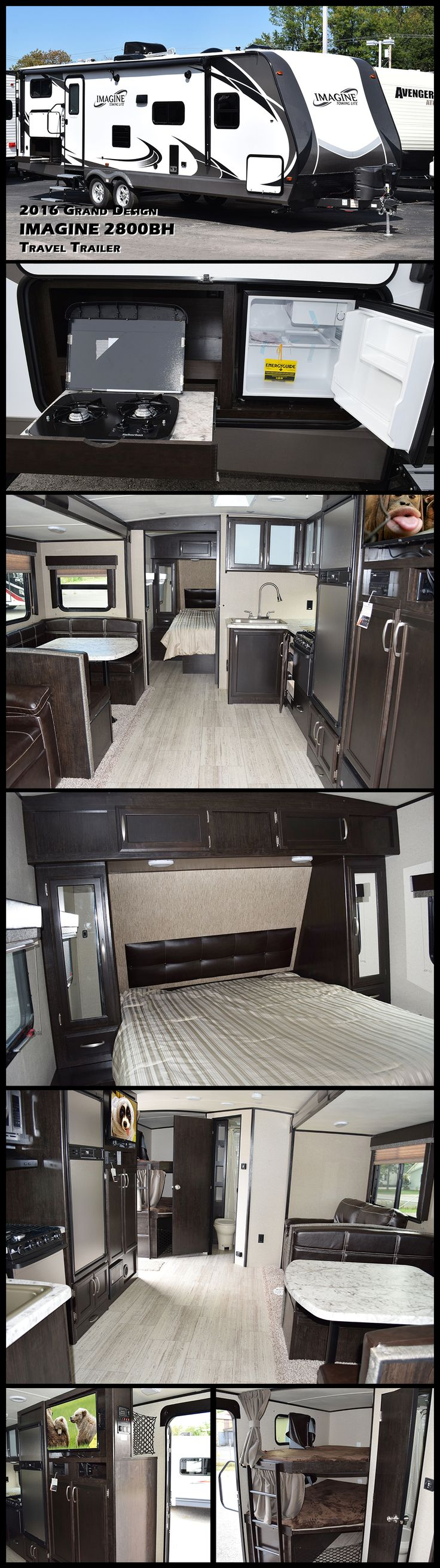 The Imagine Lightweight 2800BH Travel Trailer is the latest introduction from Grand Design. With floorplans starting well under 6,000-pounds, Imagine travel trailers hit the towing sweet spot of today's medium duty trucks and SUV's.