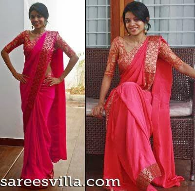 half sleeve saree blouse - Google Search