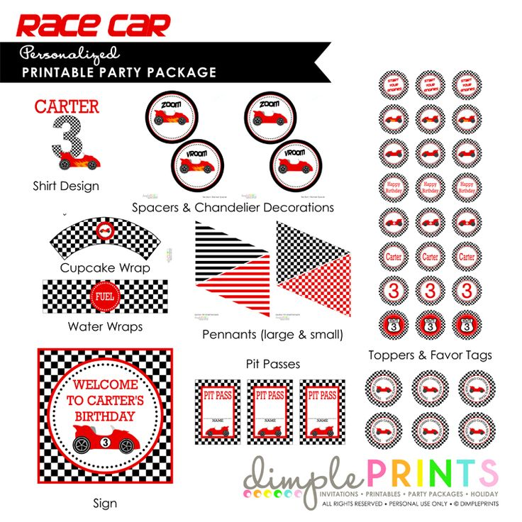 23 best Hot wheels party images – Free Printable Race Car Birthday Invitations