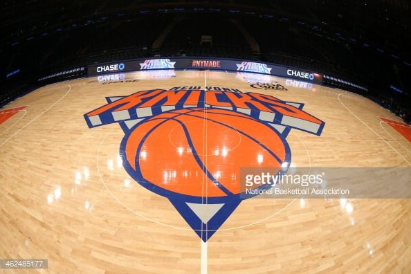 The court before the New York Knicks game against the Oklahoma City Thunder at Madison Square Garden in New York City on December 25, 2013.