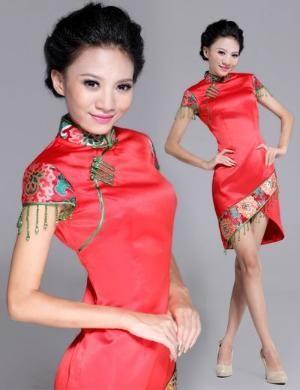 Short Cheongsam / Qipao / Chinese Wedding / Evening Dress by kathrine