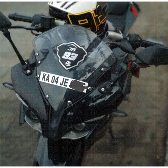 Bajaj pulsar rs 200 stickering with racing style number