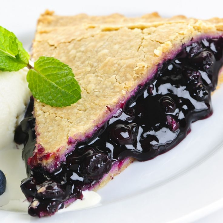 This blueberry pie recipe is right from scratch.  It smell amazing when it is baking and is wonderful on its own or served with a scoop of vanilla ice cream.