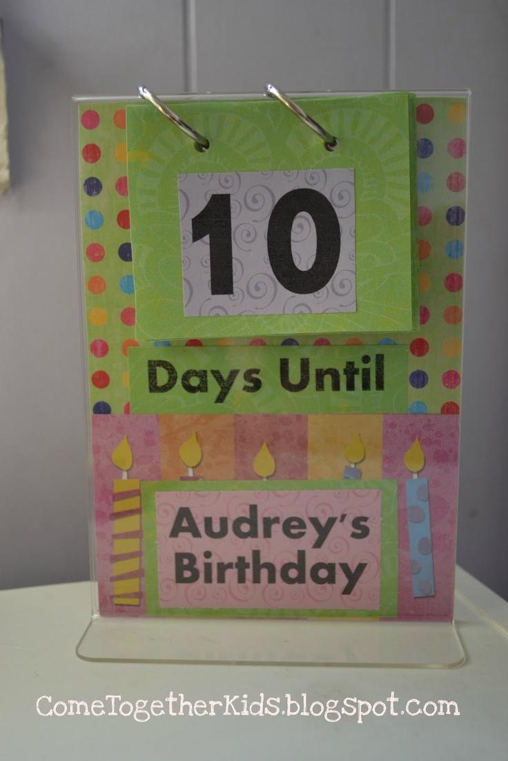 Kids Birthday Calendar : Images about birthday week on pinterest advent