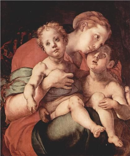 Madonna and Child with the Young Saint John - Jacopo Pontormo