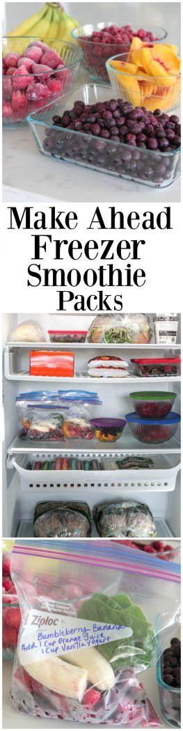 Make Ahead Freezer Smoothie Packs