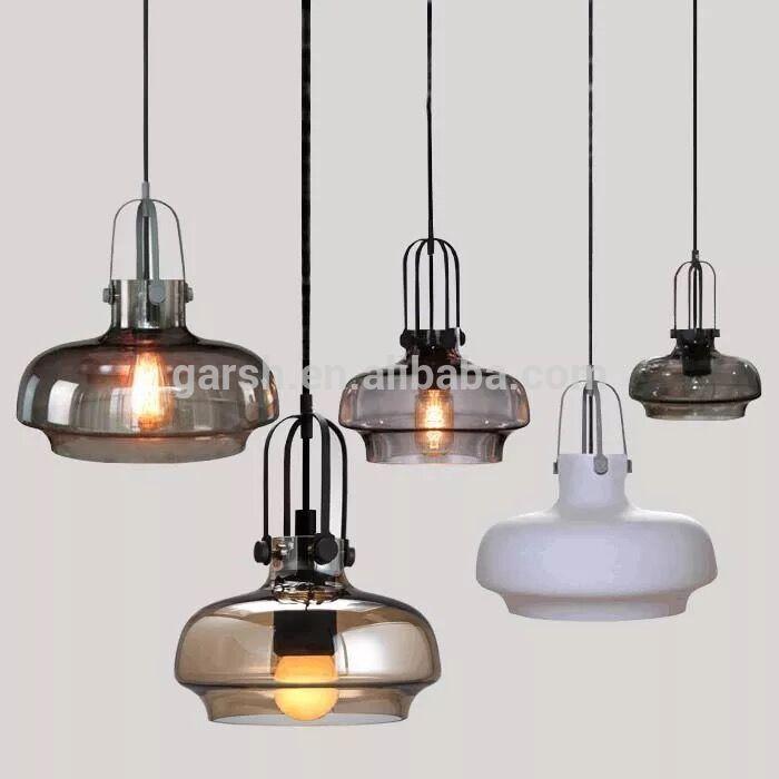 Industrial Glass Kitchen Hanging Lights Fiber Optic Vintage Pendant Light